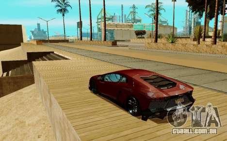 Lamborghini Aventador para GTA San Andreas vista direita