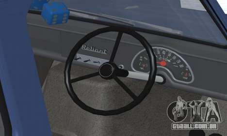 Reliant Supervan III para o motor de GTA San Andreas
