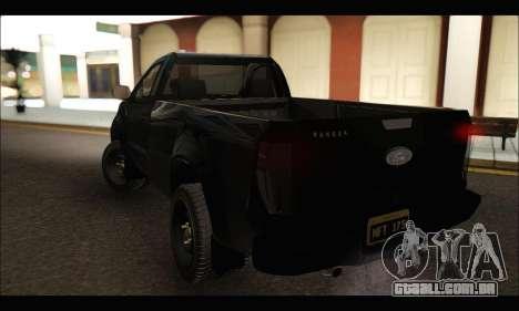 Ford Ranger Cabina Simple 2013 para GTA San Andreas traseira esquerda vista