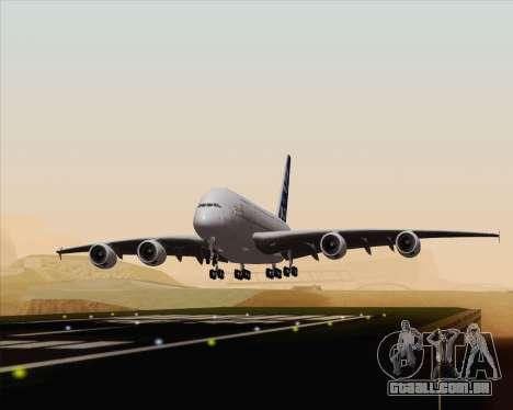 Airbus A380-800 F-WWDD Etihad Titles para GTA San Andreas vista traseira