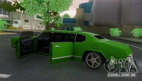 Sabre Limousine para GTA San Andreas vista interior