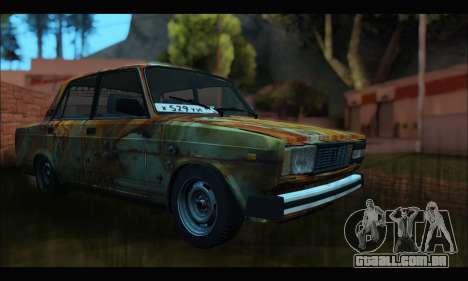VAZ 2107 Enferrujado para GTA San Andreas vista direita