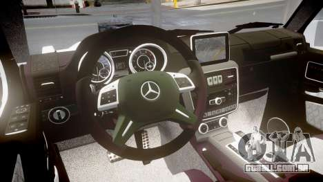 Mercedes-Benz G65 Brabus rims1 para GTA 4 vista interior
