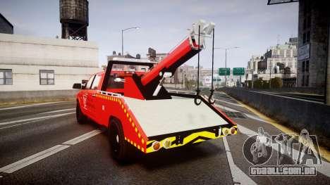 Dodge Ram 3500 Falck Service [ELS] para GTA 4 traseira esquerda vista