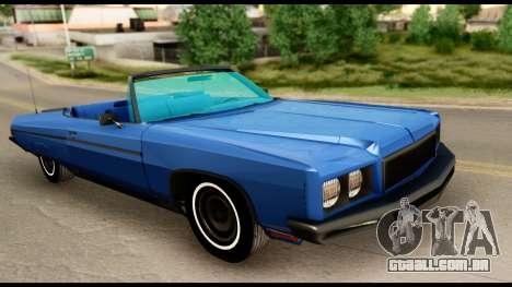 Chevy Caprice 1975 Beta v3 para GTA San Andreas vista direita