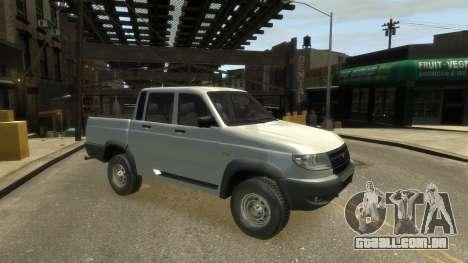 UAZ Patriot Pickup v.2.0 para GTA 4 traseira esquerda vista