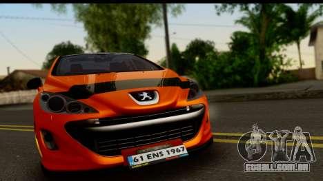 Peugeot 308 ENS Tuning para GTA San Andreas traseira esquerda vista