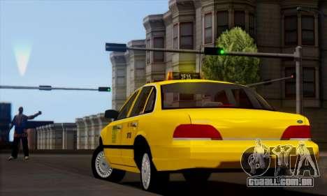 Ford Crown Victoria NY Taxi para GTA San Andreas esquerda vista