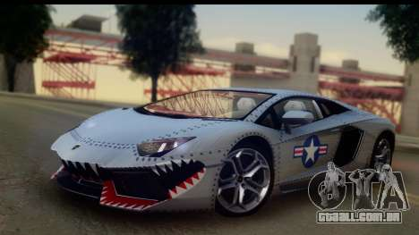Lamborghini Aventador para GTA San Andreas vista interior