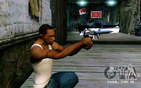 Blue Dragon Deagle para GTA San Andreas terceira tela