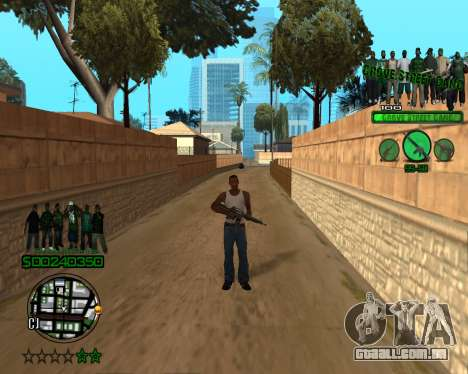 C-HUD Grove para GTA San Andreas segunda tela