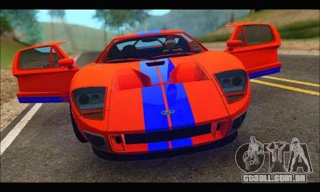 Ford GT 2006 para GTA San Andreas vista traseira