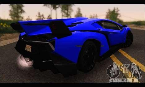 Lamborghini Veneno White-Black 2015 (ADD IVF) para GTA San Andreas traseira esquerda vista