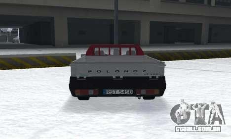 Daewoo FSO Polonez Truck Plus ST 1.9 D 2000 para GTA San Andreas traseira esquerda vista