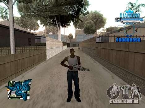 C-HUD Blek-Pro Diamond para GTA San Andreas terceira tela