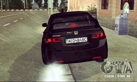 Honda Accord Type S 2008 LT para vista lateral GTA San Andreas