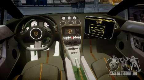 Lamborghini Gallardo LP570-4 LCPD [ELS] para GTA 4 vista de volta