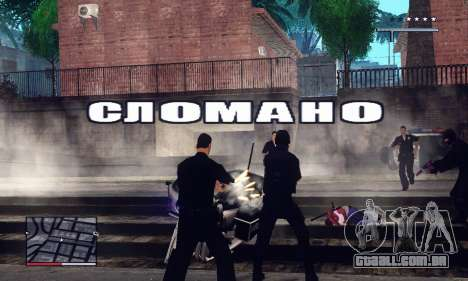 C-HUD GTA 4 with Map para GTA San Andreas segunda tela