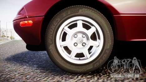 Mazda MX-5 Miata NA 1994 [EPM] para GTA 4 vista de volta
