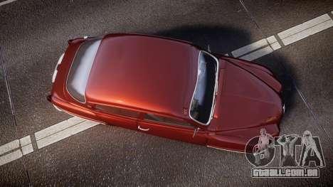 Saab 96 para GTA 4 vista direita