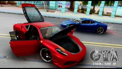 Ferrari F430 Scuderia para GTA San Andreas vista interior