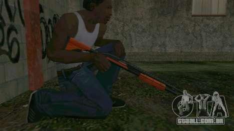 Orange Shotgun para GTA San Andreas por diante tela