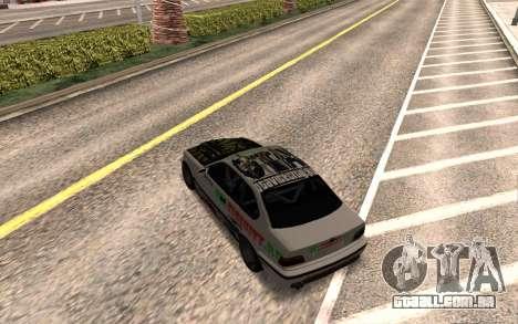 BMW M3 E36 VCDT para GTA San Andreas vista direita