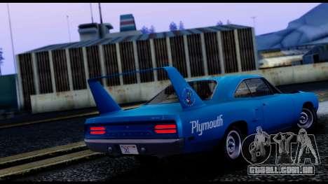Plymouth Roadrunner Superbird RM23 1970 IVF para GTA San Andreas