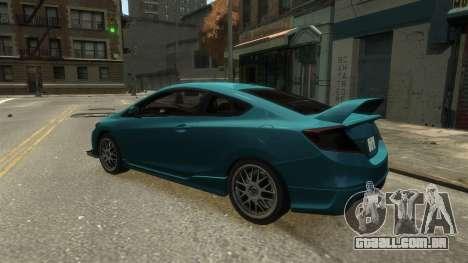 Honda Civic Si 2013 v1.0 para GTA 4 vista direita