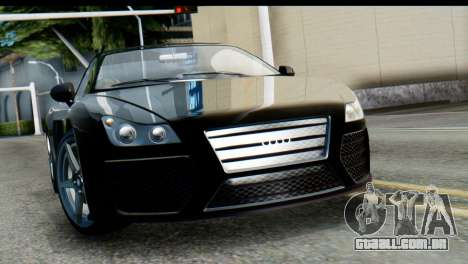 GTA 5 Obey 9F Cabrio SA Mobile para GTA San Andreas traseira esquerda vista