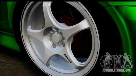 Honda Integra Type R Time Attack IVF para GTA San Andreas traseira esquerda vista