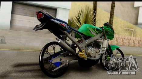 Kawasaki Ninja R Drag para GTA San Andreas esquerda vista