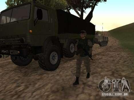 Soldados do exército russo na roupa Guerreiro para GTA San Andreas