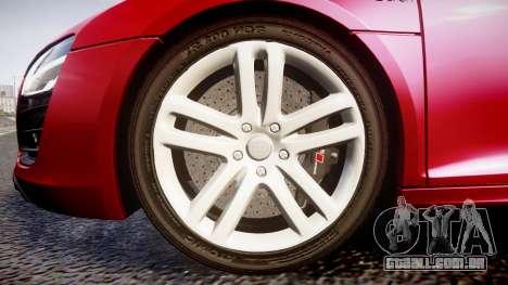 Audi R8 E-Tron 2014 para GTA 4 vista de volta