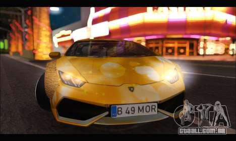 Lamborghini Huracan LB Solar para GTA San Andreas esquerda vista