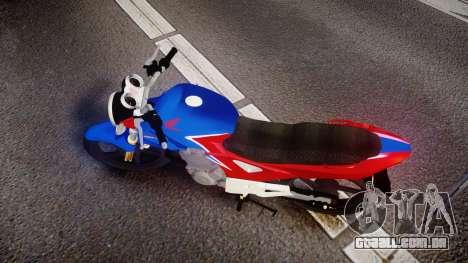 Honda Twister 2014 para GTA 4 vista direita