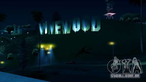 Backlit etiquetas Vinewood para GTA San Andreas