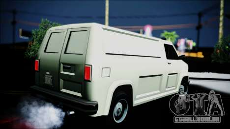 Burrito eXqable Customs para GTA San Andreas esquerda vista