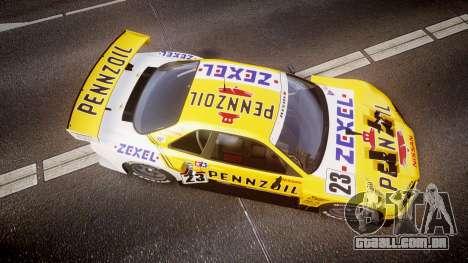 Nissan Skyline R34 2003 JGTC Pennzoil para GTA 4 vista direita