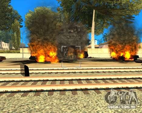 Ledios New Effects para GTA San Andreas por diante tela