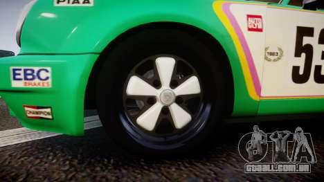 Porsche 911 Carrera RSR 3.0 1974 PJ53 para GTA 4 vista de volta