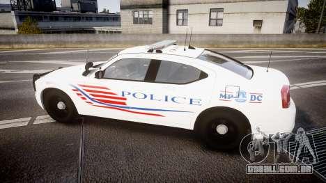 Dodge Charger Metropolitan Police [ELS] para GTA 4 esquerda vista