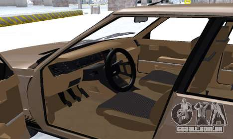 Renault 11 Turbo Phase I 1984 para GTA San Andreas interior