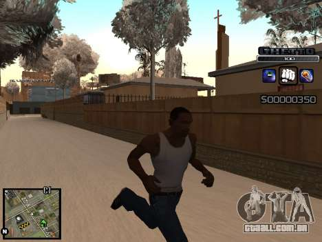 С-HUD DO GUETO para GTA San Andreas terceira tela