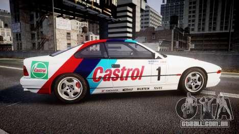 BMW E31 850CSi 1995 [EPM] Castrol White para GTA 4 esquerda vista