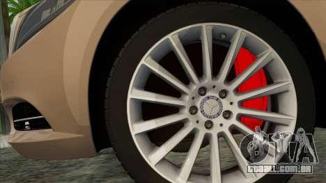 Mercedes-Benz S350 W222 2014 para GTA San Andreas traseira esquerda vista