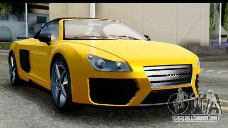 GTA 5 Obey 9F Cabrio IVF para GTA San Andreas
