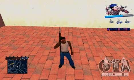C-HUD Wiz Khalifa para GTA San Andreas por diante tela