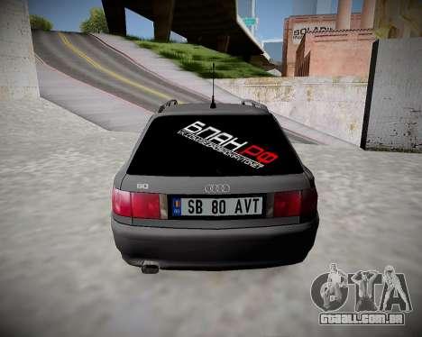 Audi 80 B4 Antes da PROIBIÇÃO.RF para GTA San Andreas vista direita
