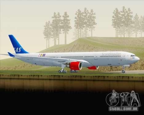 Airbus A330-300 Scandinavian Airlines para GTA San Andreas esquerda vista